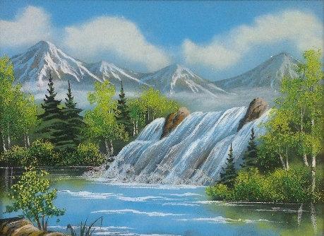 Картина в багете. Водопад 800*500 мм