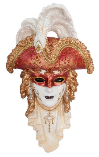 Панно на стену Венецианская маска Треуголка 330*220 мм
