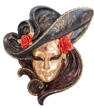 Панно на стену Венецианская маска Розы 240*270 мм