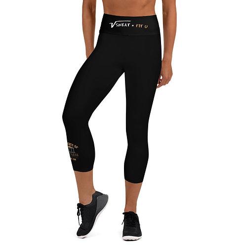 Property of Fit U Black Yoga Capri Leggings