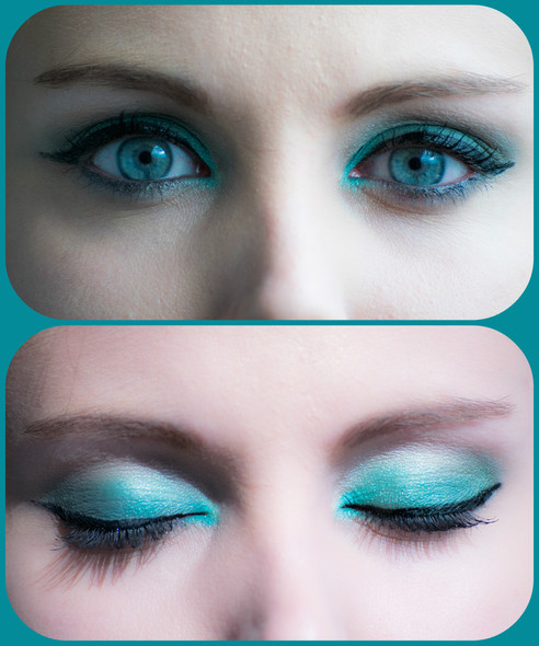 Monday Shadow Challenge : Teal (Bleu Canard) pour un maquillage paon revisité