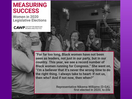 Report: Women Continued to Make Gains in Election 2020 by CAWP