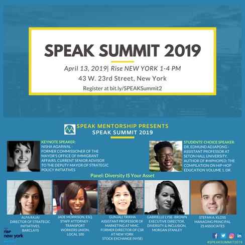 Partner Event! SPEAK Summit 2019