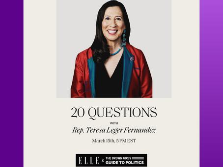 WHM 2021: ELLE X BGG with Congresswoman Teresa Leger Fernandez (NM-03)
