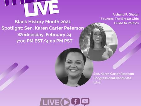 The BGG Live: Senator Karen Carter Peterson