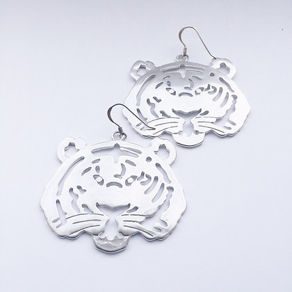 Grrr - Sterling Silver Tiger Earrings