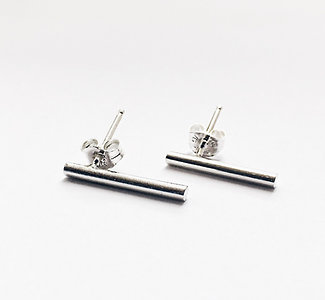 Broadway - Sterling Silver Bar Earrings