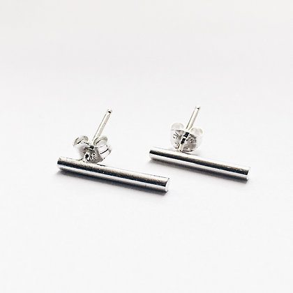 8pm jewellery handmade sterling silver bar earrings