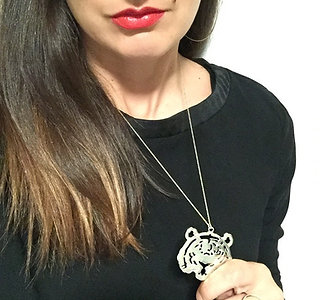 Grrr- Sterling Silver Tiger Necklace