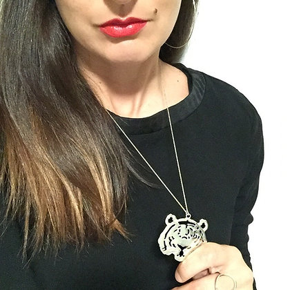 8pm jewellery grrr sterling silver necklace