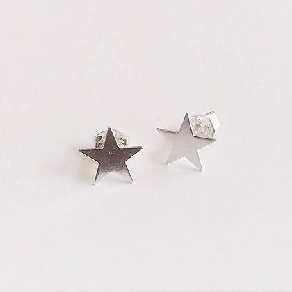 Sirius - Sterling Silver Star Earrings