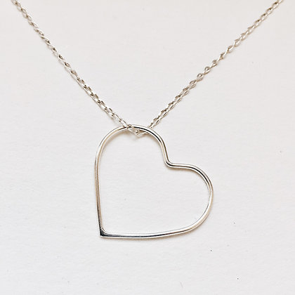 8pm jewellery love heart necklace in sterling silver