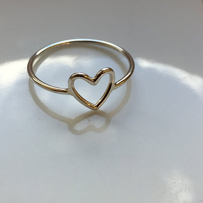 8pm jewellery love heart sterling silver ring