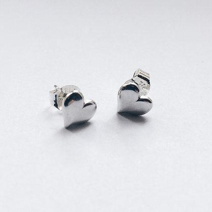 8pm jewellery love sterling silver heart earrings