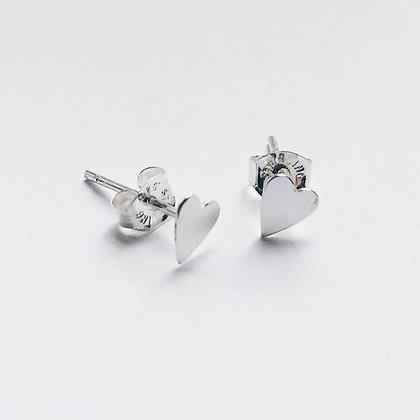 Eros - Sterling Silver Heart Earrings