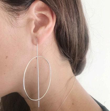 1989 - Sterling Silver Asymmetrical Earrings