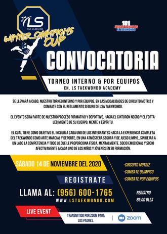 CONVOCATORIA 2020 WINTER CHAMPIONS CUP
