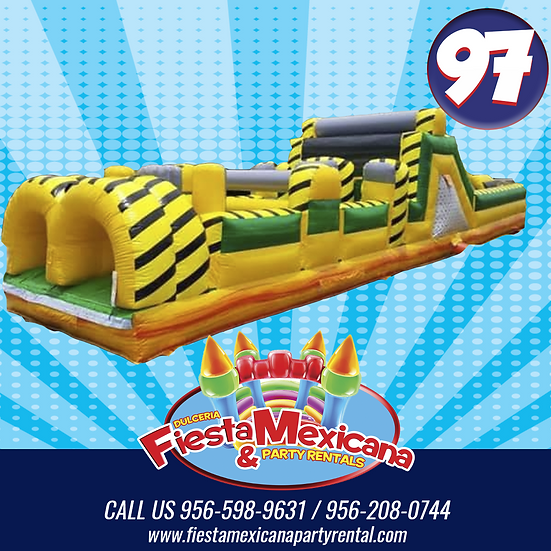 #97 obstacle course  L 40ft x 10ft W x  H 12ft $195