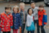 Six kids smiling