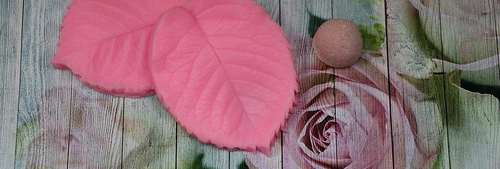 Текстура листа розы Молд 8,2х6,3х1,5 см