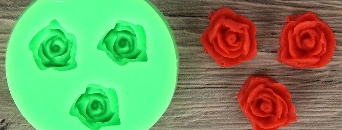 """""""Три малыеньких розы""""Молд 5 см"""
