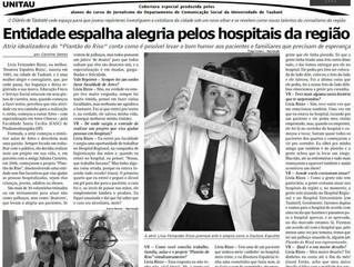 Plantão do Riso é destaque no jornal Diário de Taubaté