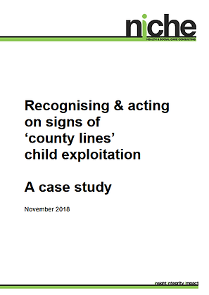 Recognising & Acting on Signs of 'County Lines' Child Exploitation: A Case Study