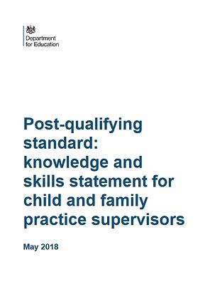 Post-Qualifying Standard: KSS For Children and Family Practice Supervisors