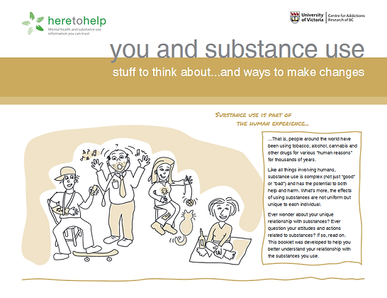 You And Substance Use: Stuff To Think About...And Ways To Make Changes