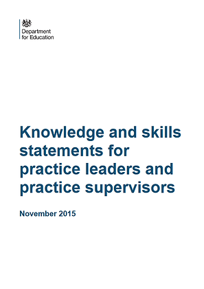 Knowledge And Skills Statements For Practice Leaders and Practice Supervisors