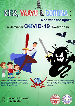 Kids, Vayyu and Corona: Who Wins The Fight?: A Comic For Covid-19 Awareness