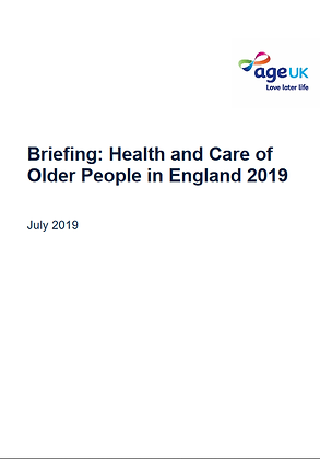 Briefing: Health and Care of Older People in England 2019