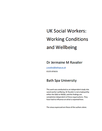 UK Social Workers: Working Conditions and Wellbeing
