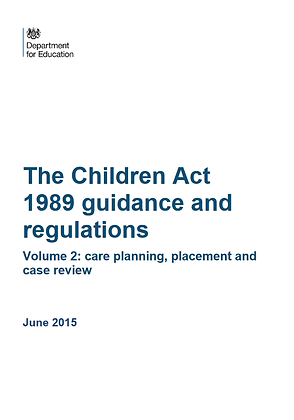 The Children Act 1989 Guidance and Regulations