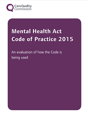 Mental Health CoP 2015: An evaluation of how the Code is being used