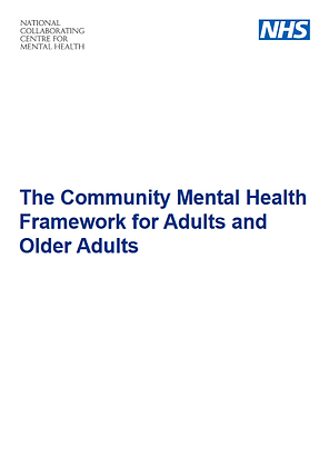 The Community Mental Health Framework for Adults and Older Adults