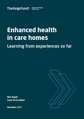 Enhanced Health In Care Homes: Learning From Experiences So Far