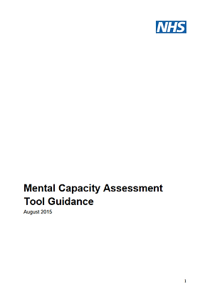 Mental Capacity Assessment Tool Guidance