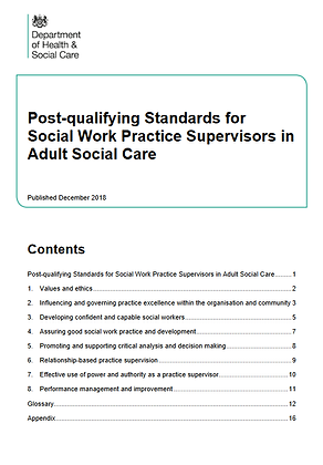 Post-Qualifying Standard For Social Work Practice Supervisors in ASC