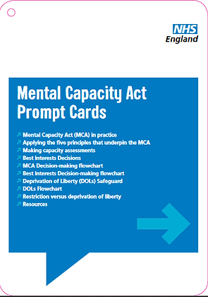 Mental Capacity Act Prompt Cards