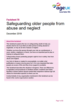 Safeguarding Older People From Abuse And Neglect