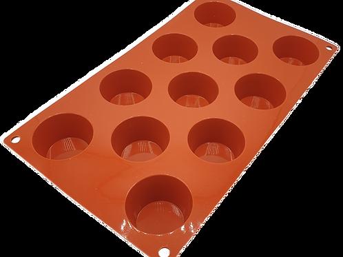 Moule silicone - 11 mini-muffins