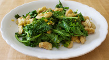Kale Raab with Pan-Fried Beans