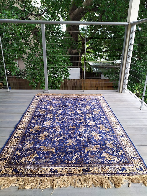 Dark Blue Moroccan Rug
