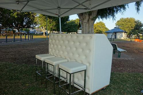 Portable bar with optional bar stools