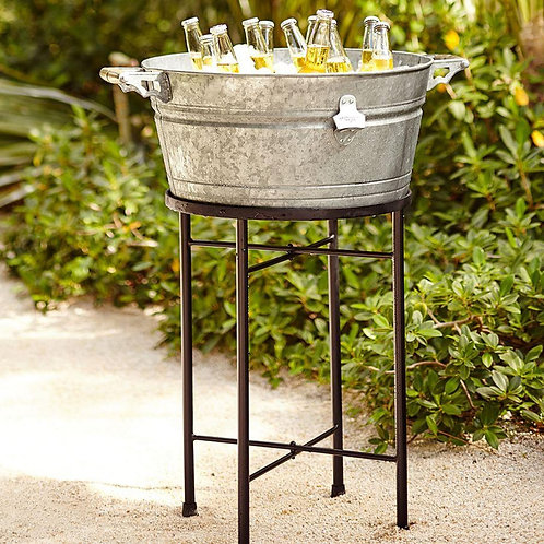 Metal party drinks cooler tub