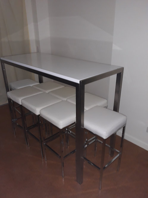 Long rectangular dry bar (Tall table)
