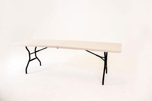 Plastic trestle table for hire