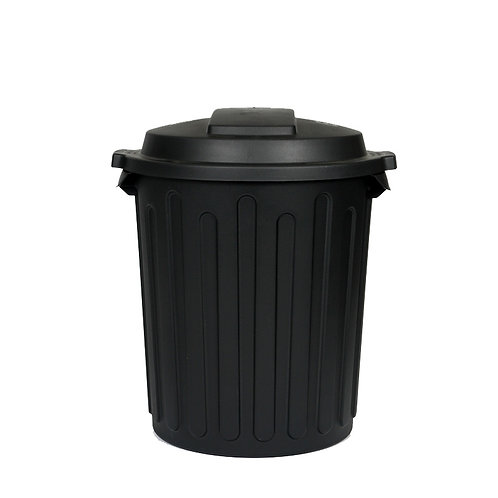Black garbage bin (with liner)