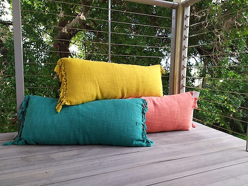 Rectangle tassel cushion
